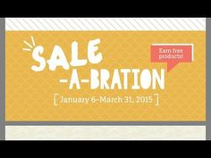 ▶ Sale-A-Bration Sneak Peek & How-To Tips - YouTube. Yay! #SaleABration Begins on Jan 6th. Take a peak at some of #StampinUp's new toys & how-to tips. tfw. habd!