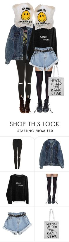 """""""Unknowns"""" by wonders-of-astra ❤ liked on Polyvore featuring Topshop, Leg Avenue, Sober Is Sexy, Dr. Martens, women's clothing, women, female, woman, misses and juniors"""