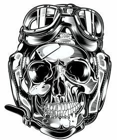 Skull & Pistons - Harley Davidson - US on Behance