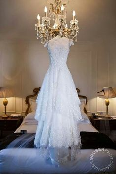 How to display the dress. And a beautiful dress it is