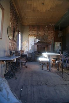 #Bodie Living Room 2 -  Read about the best preserved ghost town in the US here: http://goroadtrippin.com/site/bodie-state-park/