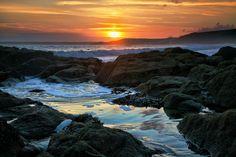 Photo of Rockpool Sunset, Cornwall