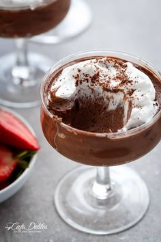 3-Ingredient Double Chocolate Mousse (Low Carb and Dairy Free) | https://cafedelites.com