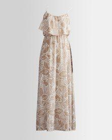 HASHTAG SELFIE Stone Forest Maxi Dress