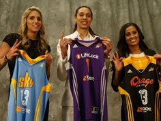 elena delle donne #2 draft pick, Brittney griner #1 draft pick and skylar diggings #3 draft pick WNBA 2013