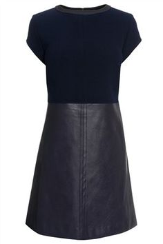 Buy PU Panel Shift Dress from the Next UK online shop