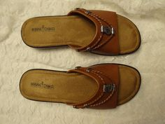 d2563aa468d Minnetonka Women s Silverthorne Slide Sandal Carmel Sz 10 WW US