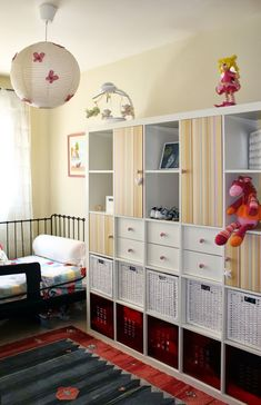 IKEA Hackers: A closet on a bookcase? Could this be adapted for American girl or Build A Bear clothes??