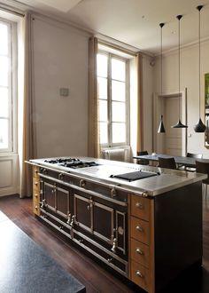professional stainless steel cooker islands la cornue la cornue chef kitchendesign - La Cornue Kitchen Designs