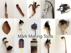 Mark making tools from nature & everyday objects~The Visionary ART Workshop handmade brushes Make Art, Diy Art, Drawing Machine, Visionary Art, Mark Making, Art Plastique, Drawing Tools, Art Tips, Painting Techniques