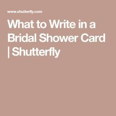 mustsee 30 super cute sayings to write in a bridal shower