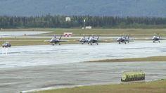 #Video ALASKA: The Blue Angels Make a Grand Entrance at JBER for ATOH 16. (July...