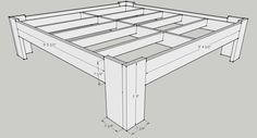 Bed frame 2 exterior dimensions