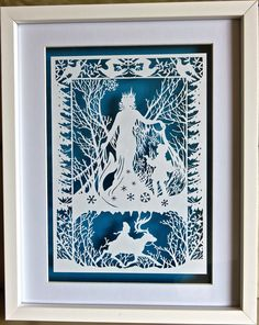 The Snow Queen, template by Bramble Crafts, hand cut by myself.