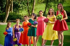 Vicky and Matt: A rainbow-themed vow renewal in the Welsh countryside – Bouquet Catch Man And Wife, Bridesmaid Dresses, Wedding Dresses, Welsh, Vows, Countryside, Bouquet, Rainbow, Celebrities