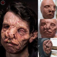 prorenfxIn progress sculpts and Makeup by Mike Marino and Mike Fontaine Scary Makeup, Sfx Makeup, Movie Makeup, Monster Makeup, Monster Face, Special Makeup, Special Effects Makeup, Prosthetic Makeup, Make Up Art