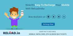 Now It's Easy To #Recharge Your #Mobile With Reload.in Visit @ www.reload.in/mobile-recharge-app/