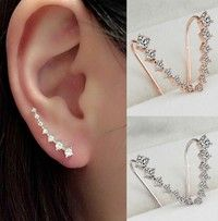 New Arrival Women's Fashion European Style Unique Wrap Shiny Diamond Studs Earring Alloy Multicolor Silver Gold Plated Hook Stud Earring for Women and Girls Ladies Jewelry Findings Accessories Womens Luxury Trendy Elegant Piercing Rhinestone Crystal Earrings Gift