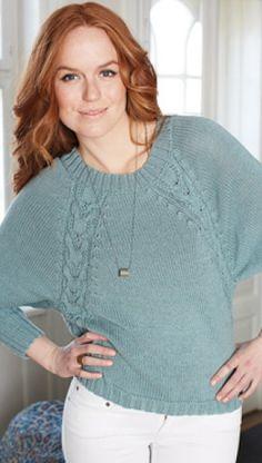 Gratis strikkeopskrifter | Strikket, oversize sweater | Rustikt look | Garnet er lækker blanding af merinould og bomuld | Flotte snoninger | Håndarbejde