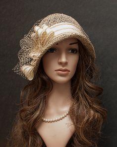 Vintage cloche hat for women everyday summer hat by MargeIilane
