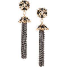 Tassel Drop Earrings, beautiful standing or lying down!
