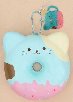 Puni Maru squishy ciambella blu gatto Puni Maru