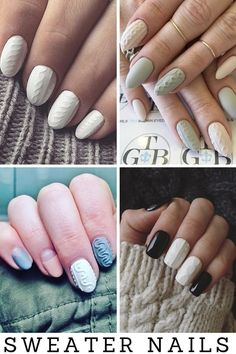 31 best sweater nails images in 2016 Nail Art Designs, French Nail Designs, Nail Polish Designs, Nails Design, Gel Nail Colors, Gel Nail Art, Gel Nails French, Nail Care Tips, Nail Design Video