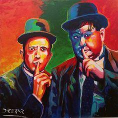 Stanlio e Ollio, in inglese Laurel & Hardy, è stato uno dei più famosi duo comici della storia del cinema interprete del genere slapstick, composto da Stan Laurel e Oliver Hardy.   #acrilico #arte #artworks #dipinto #drepar #Olio #Oliver #Oliver Hardy #Stan Lauren #Stanlio #Stant