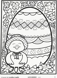 Educational insights coloring pages let doodle coloring pages coloring page free educational insights printable from lets Spring Coloring Pages, Easter Coloring Pages, Doodle Coloring, Coloring Pages To Print, Coloring Book Pages, Coloring Pages For Kids, Coloring Sheets, Kids Coloring, Easter Projects