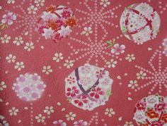 Sakura Cherry Blossom Japanese Fabric Cotton Crepe by kawaiibeads Sakura Cherry Blossom, Japanese Fabric, Sisters, Cushions, Colour, Silk, Living Room, Future, Floral