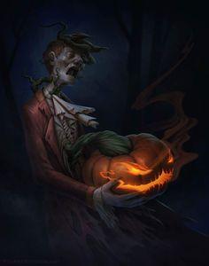 """Stingy Jack-o-Lantern"" by Stu Harrington @ ArtStation"