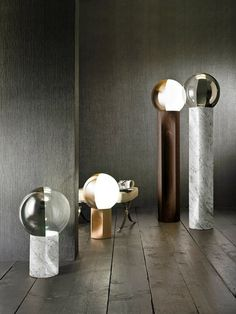 Je Suis Table and Floor lamps made in Italy by Penta. Available exclusively at Sarsfield Brooke Ltd.