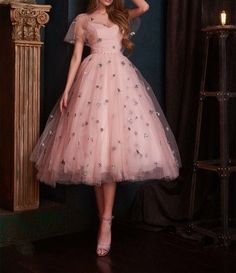 Buy directly from the world's most awesome indie brands. Or open a free online store. Pink Tulle Homecoming Dresses,Tea Length Prom Dresses,Medi on Storenvy Tea Length Dresses, Ball Dresses, Ball Gowns, Vintage Tea Length Dress, Tea Length Skirt, Mob Dresses, Modest Dresses, Cheap Dresses, Casual Dresses