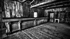 The inside of an old saloon located in Bannack, Mont. - a long abandoned ghost town.