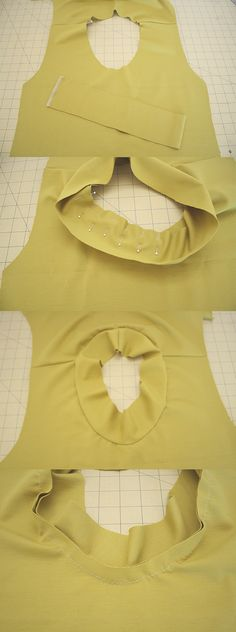 megan nielsen design diary: How to sew a knit neckline binding (the standard method)