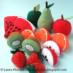 Bugs and Fishes by Lupin: 5 Free Felt Fruit Sewing Tutorials