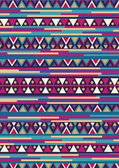 AZTEC PATTERN Art Print by Nika | Society6