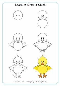 Dibujos para niños en pocos pasos - Recopilación