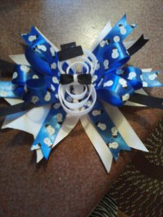 5 1/2 in. Snowman Christmas bow