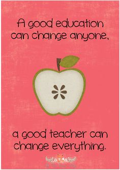 A good teacher can make all the difference.