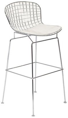 Modway Cad Bar Stool, White