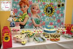 Fantastic Frozen Fever birthday party! See more party planning ideas at CatchMyParty.com!