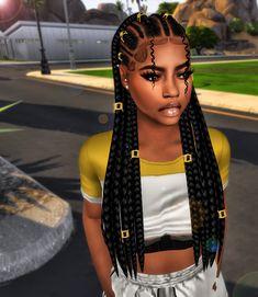 sims 4 cc // custom content black hairstyle // black simmer, african american, ethnic hair // braids by Ebonix NiveaTeen - Elder Swatches 5 Clip Swatches (found under Head Accessories)Hat CompatibleDisallowed for RandomCustom Ebonix Ebonix Sims 4 Cc Kids Clothing, Sims 4 Mods Clothes, Sims Mods, Ethnic Hairstyles, Black Girls Hairstyles, Afro Hairstyles, Sims 4 Hair Male, Sims Hair, Sims 4 Afro Hair Male