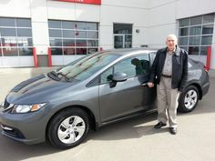 Congratulations to Dennis on the purchase of his new 2013 Honda Civic LX!