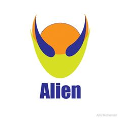 'Alien' Sticker by AbirMohamad Iphone Wallet, Iphone Cases, Floor Pillows, Throw Pillows, Duvet Covers, Classic T Shirts, Boat, Stickers, Logos
