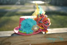 Spring into Easter Top Hat Colorful Chiffon Satin by SmyleeBugz, $20.50~ A new twist on easter hats!