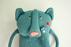 Kurt the blue bear plush toy for kids by Skripskrap on Etsy, €35.00