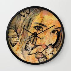"""Remain SedateI"" wall clock at @society6  • SHOP: https://society6.com/product/remain-sedate_wall-clock#33=284&34=286 • #art #painting #portrait #society6 #print #stampa #eyes #girl #illustration #butterflies #illustrazione #ritratto #farfalle #clock #wallclock #walldecor #orologi #graffiti #modernart #artforsale #kissmyart #arte #artemoderna #graffitiart #spraypaintart #romantic #surreal #beauty #homedecor #arredamento #orologio #sexy #ragazza #femaleportrait #girl"