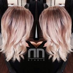 In love with this one. Transition from high contrast Ombre to seamless Balayage. Finished with a all so trendy shoulder length highly textured Lob haircut. @Olaplex for insureance. Perfection on this - hairbynn via Instagram