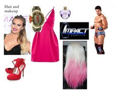 """""""Leah-Ethan's valet (Impact Wrestling)"""" by thefuturemrsambrose ❤ liked on Polyvore featuring Topshop, Vera Wang and TNA"""